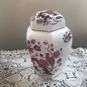 """Vintage Aynsley 9"""" fine bone china ginger jar"""